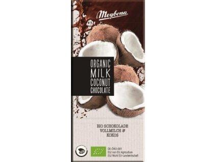 Meybona Mléčná Bio čokoláda s kokosem 100g