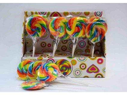 Krásné duhové lízátko Lollipop 30g 20ks
