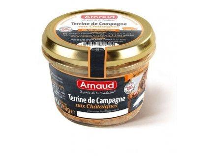 Arnaud Farmářská terina s kaštany 180g