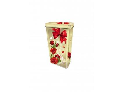 Italské pralinky v plechové dóze motiv červená růže 125g