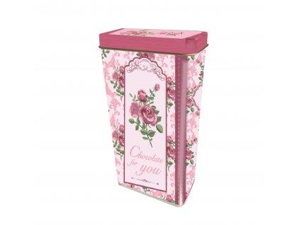 Italské Pralinky plechová dóza Růžová růže 125g