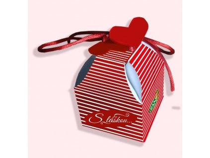 Liran Valentýnské balení čaje motiv proužky 2g