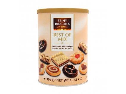 Výběr sušenek a waflí dóza 300g