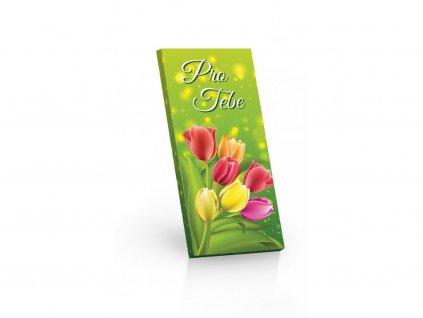 Pro Tebe (motiv tulipány) čokoláda hořká 60% 100g min.trv. 2.2020