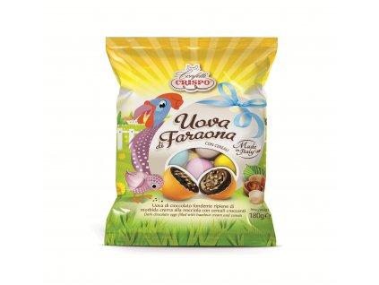 Crispo Uova di Faraona drage Cukrová vajíčka z hořké čokolády 180g Akce