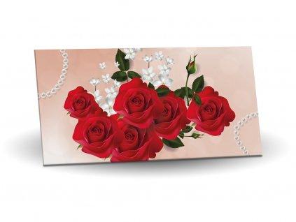 Hořká čokoláda 75% 175g motiv Červené růže
