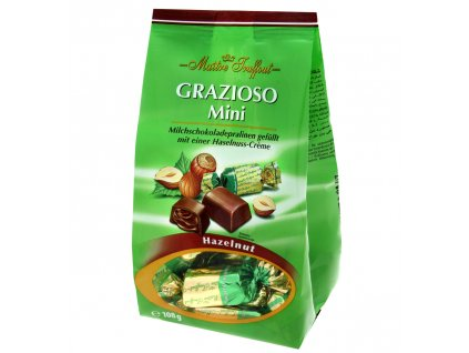 Maitre Truffout Grazioso Mini Mléčné pralinky plněné oříškovým krémem 108g