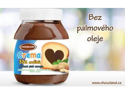 Chocoland Crema 32% arašídů bez palmového oleje 400g