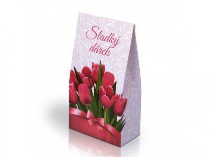 Italské pralinky Sladký dárek motiv tulipány 100g
