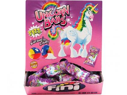 Fini Bonbón plněný kyselým práškem Unicorn Balls fizz 5g 200ks