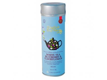 English Tea Shop 15 PYRAMIDEK BÍLÝ, BEZ A BORŮVKA plechová dóza