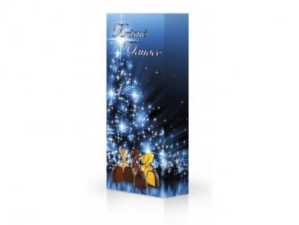 Výběr pralinek Krásné Vánoce modrá 84g