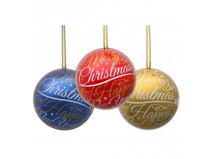 Only Vánoční plechová koule s pralinkami 30g