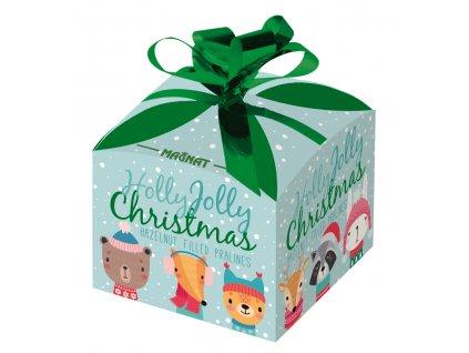 Pralinky s lískooříškovou náplní vánoční dárková krabička 40g