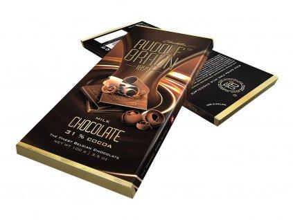 Rudolf Braun Belgická mléčná čokoláda 31% kakaa 100g