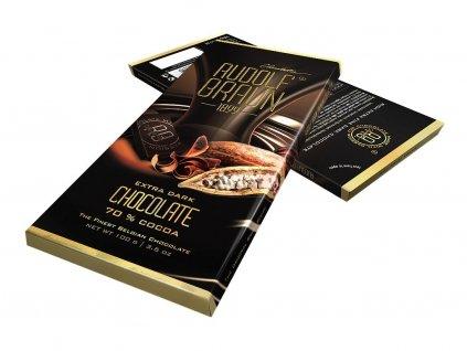 Rudolf Braun Belgická extra hořká čokoláda 70% kakaa 100g
