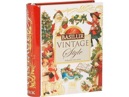 Basilur Book Vintage Vánoční kniha 5x2g