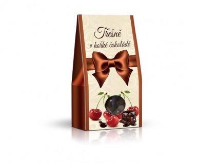 Třešně v hořké čokoládě 150g stříška