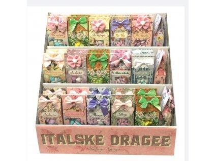 Italské dražé v ozdobných krabičkách 50g 33ks