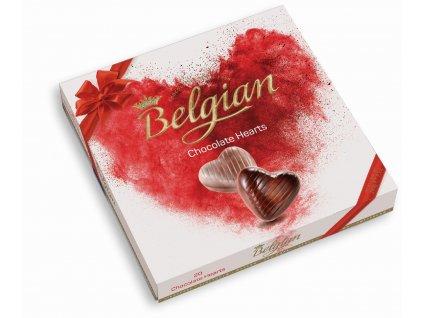 Belgian Hearts Čokoládová Srdíčka 200g