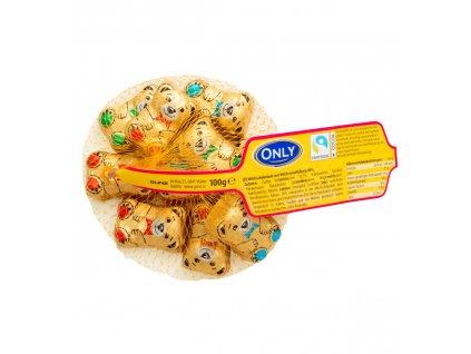Only zlatý medvídek z mléčné čokolády s náplní síťka 100g