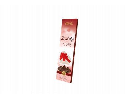 Z lásky Carla neapolitánky z mléčné čokolády 25g