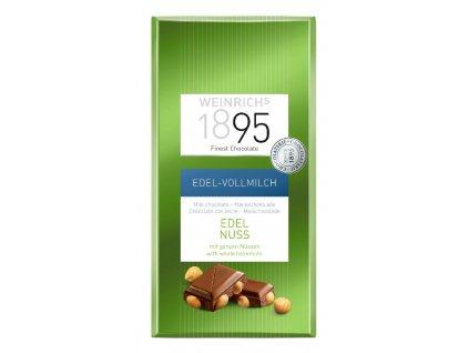 Weinrichs Mléčná čokoláda s lískovými oříšky 100g