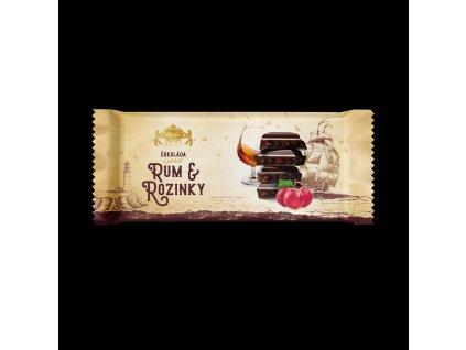 Carla Hořká čokoláda s rozinkami a rumovou příchutí 200 g