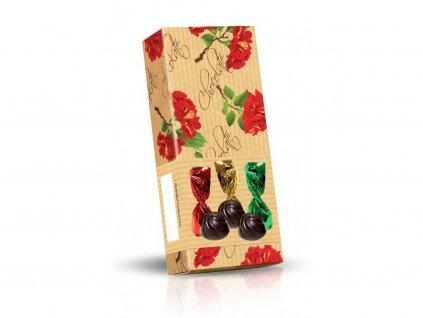 Květy Ibišku Směs pralinek z hořké čokolády 65g