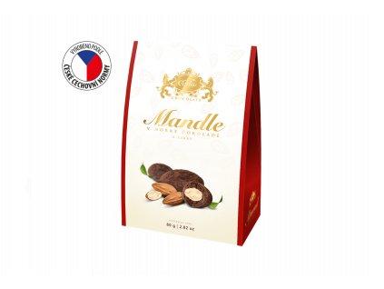 Carla Mandle v hořké čokoládě a kakau stříška 80g