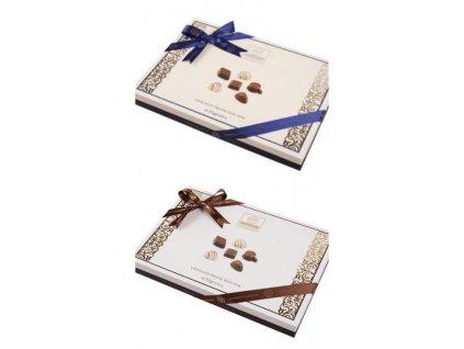 Elit Selection Směs čokoládových pralinek modrá nebo hnědá mašle 252g