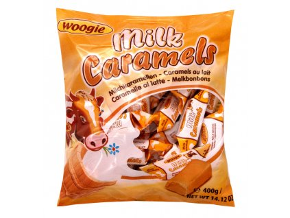Woogie Mléčné karamelky 400g