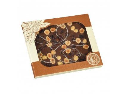 Bolci Mléčná čokoláda oříšky rozinky 100g