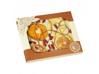 Bolci Bílá čokoláda s pomeranč, ovoce 100g