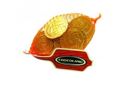 Čokoládové zlaté mince CZK v síťce 50g