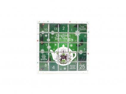English Tea Shop Zelený adventní kalendář Puzzle 48 g (25 ks s.)