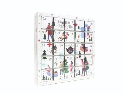 English Tea Shop Bílý adventní kalendář Puzzle 48 g, 25 ks