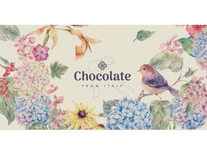 Chocolate from Italy Gianduia motiv hortenzie 100g