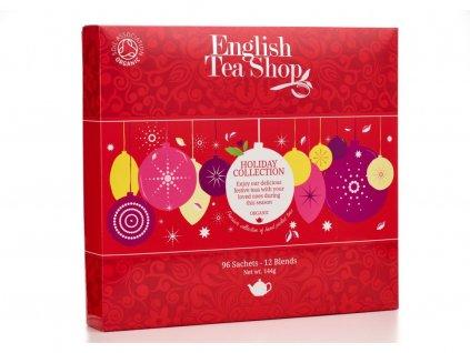 English Tea Shop Papírová kolekce Červené ozdoby 144 g, 96 ks bio English Tea Shop96