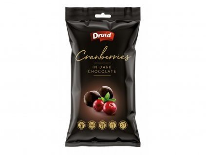 Druid Brusinky v hořké čokoládě 90g