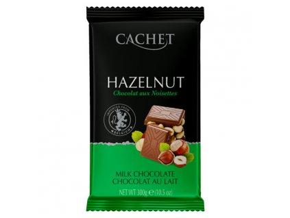 Cachet Mléčná oříšková čokoláda 300g