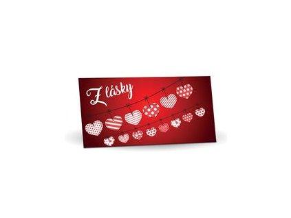 Hořká čokoláda 60% s brusinkami 175g Z lásky (srdíčka na šňůrce)