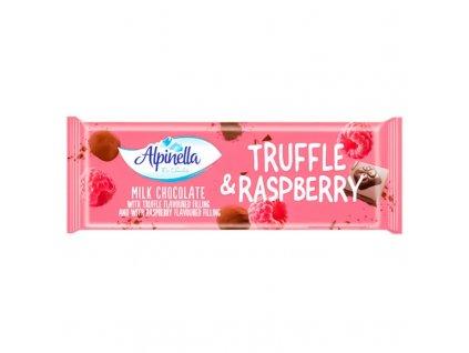 Alpinella Mléčná čokoláda Truffle Raspberry 270g