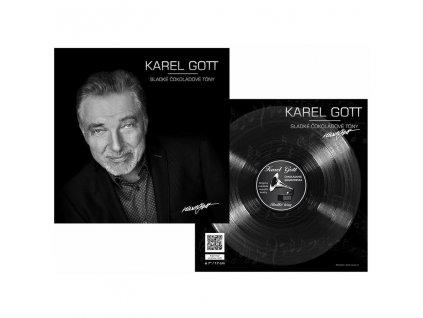 Čokoládová gramofonová deska Karel Gott 80g motiv 1
