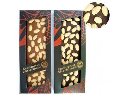 Severka Belgická mléčná čokoláda sypaná mandlemi 150g