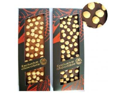 Severka exklusivní Mléčná čokoláda s lískovými oříšky 150g