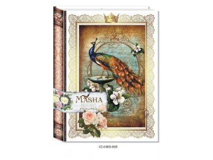 Masha Bonboniéra Kniha motiv Páv 400g
