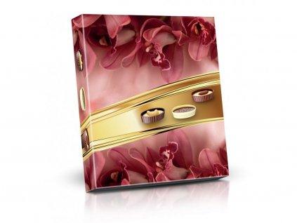 Plněné čokoládové lodičky Orchidej 125g