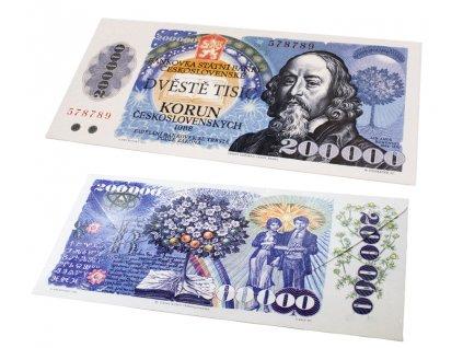 Fikar Čokoládová Bankovka 200.000 Kčs 60g