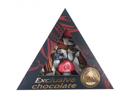 Severka Hořká čokoláda s pekanovými ořechy, pistáciemi, jahodami, šeříkem a kokosem 50g